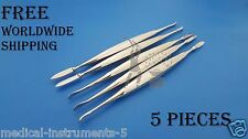 Dental Wax Carver Lecron Modeling Knife 5 Pieces Dental Laboratory Tools