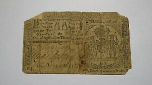 1760 2 Pounds New York NY Colonial Currency Note Bill! RARE ISSUE! £2