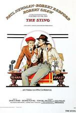 The Sting Movie Poster Lithograph Paul Newman Robert Redford S2 Art