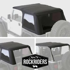 Frameless Bowless Soft Top and Tinted Window Fits 1997-2006 Jeep Wrangler