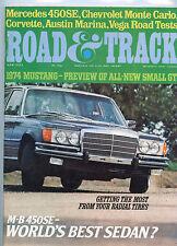 June 1973  Road & Track Magazine Mercedes Benz 450SE Cover