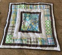 PBTeen Euro Pillow Sham 26x26 Floral Paisley Polka Dot Checkered Plaid