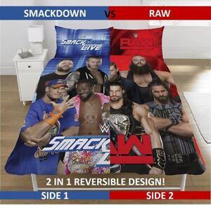 WWE Raw Vs Smackdown Wrestling Bedding Single/Double Duvet Cover