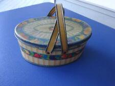 Vintage Tindeco Metal Sewing Basket with Handles