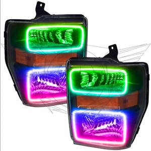 ORACLE 2008-2010 Ford F250/F350 Super Duty Black ColorSHIFT Headlight