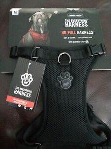 """Canada Pooch """"BLACK"""" The Everything No pull Dog Harness Size Medium/M CP01268"""