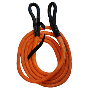 NYLON KINETIC RECOVERY TOW ROPE 8600kgs - 19mm x 6 metre offroad 4 x 4 strap