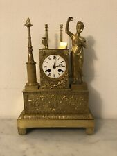 Pendule Uranie. Kaminuhr Empire clock bronze horloge antique cartel