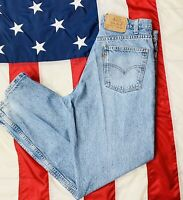 Vintage 90s Distressed Grunge Levis 550 Relaxed Fit Mens Jeans 34x30 Faded USA