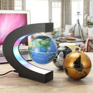 Magnetic Floating Globe Levitation C-Shape LED World Map Home Decor Lighting ONY