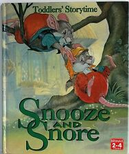 TODDLERS' STORYTIME Snooze and Snore Large easy Read Print EARLY READER (C701)