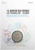 Portugal 2 Euro 2012 Bargeld 10 Jahre Euro Gedenkmünze in CoinCard