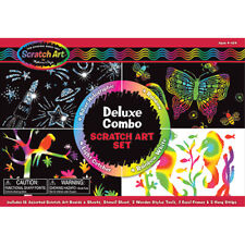 Melissa and Doug Deluxe Combo Kids Scratch Art Set - Arts and Crafts for Kids