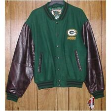 G-III Green Bay Packers Leather & Wool Team Jkt - Size: Large