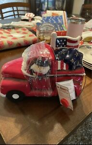 Mr. LIBERTY Patriotic USA Led Flag Americana STARS Canister Cookie Candy Jar