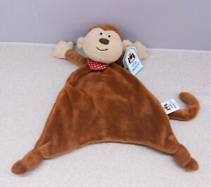 BNWT ~ Jellycat Cheeky Monkey Comforter ~ Brown Soft Soother Blankie Cuddle Toy