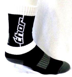Thor MX Gray White & Black Compression Foot Youth Deuce Crew Socks