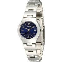 Casio LTP1241D-2A2 Ladies Stainless Steel Round Quartz Dress Watch Blue Dial
