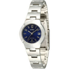 100 Genuine Casio Ltp1241d-2a2 Blue Dial Ladies Date Analog Dress Watch