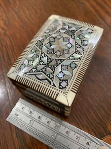Mother Of Pearl Inlay, Trinket/ Jewellery Box