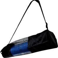 BodyRip Pilates Yoga Mat Carry Bag Nylon Mesh Black Fitness Exercise Home Gym