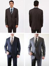 Men's Solid 2 Buttom Business Church Super 150's  Flat Front Pants Slim Fit Suit