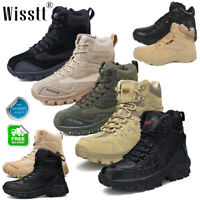 Mens Military Tactical Boots Waterproof Hiking Combat Boots Army Work Boots Size