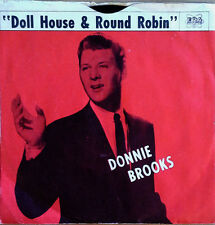 DONNIE BROOKS - DOLL HOUSE b/w ROUND ROBIN - ERA 45 + PICTURE SLEEVE - 1960