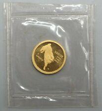 SINGAPORE 1987 5 SINGOLD YEAR OF THE RABBIT 1/20 999.9 FINE GOLD BU