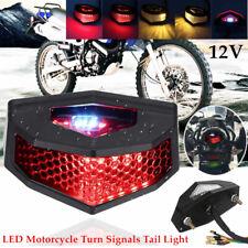 LED Motorcycle Turn Signals Tail Light Cafe Racer  ATV Fender Edge Brake Durable
