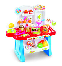 Childrens Sweet Shop Market Counter Cash Till Role Play Pretend Food Toy Set 254