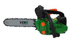 TCK Benzin Einhand Motorsäge Astkettensäge 30cm + 2. Kette TopHandle Kettensäge