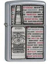EDEL  ZIPPO  JIM BEAM Bourbon BOTTLE  Emblem PLATTE  CHROM  NEU  +++