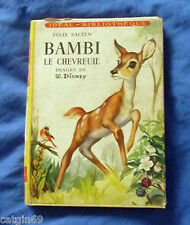idéal bibliothèque / Bambi le chevreuil / Walt Disney 1956