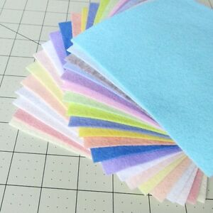 """21 - 12""""X12""""  Spring Colors Collection - Merino Wool blend Felt Sheets"""