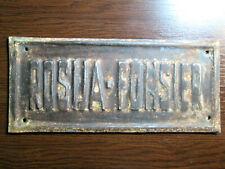 Rosija Fonsier - Insurance Company Table Tin Sign Russia - Hungary