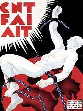 Propagande de guerre civile espagnole FAI CNT anarchie Espagne ancienne publicité poster 1973pylv