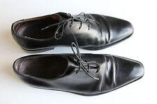 ICONIC Sutor Mantellassi Black Leather Laces Shoes £690 HANDMADE 6.5 EU 40 -50%!