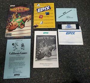 Apple II IIe IIc IIgs - CHAMPIONSHIP WRESTLING - Epyx - Complete In Box - CIB
