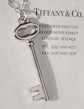 Tiffany & Co Sterling Silver 2 Inch Large Vintage Oval Key Charm