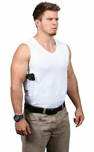 """MENS CONCEALMENT T """"WHITE"""" CONCEALED CARRY HOLSTER SIZE 2XL LEFT HAND"""