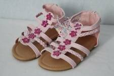 NEW Toddler Girls Gladiator Sandals Size 8 Pink Summer Strappy Flowers Shoes