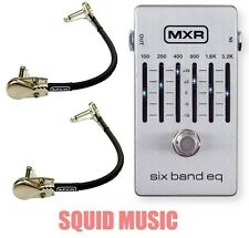 MXR M-109S Six Band Graphic EQ Equalizer M109S Pedal 6 ( 2 MXR PATCH CABLES )