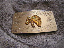 Belt Buckle Horse's Horse Head Made in Japan