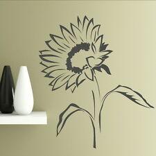 Sunflower Sun Flower Wall Sticker / Giant Wall Decal / Floral Wall Transfer FL37