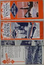 1930's~Gray Line Bus Seeing Boston Tours Flyer