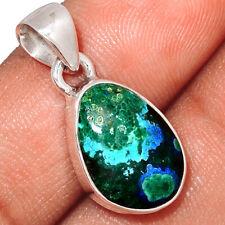 Malachite In Azurite 925 Sterling Silver Pendant Jewelry MAZP719