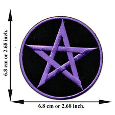 Purple Star Pentagram Magic Symbol Sign V06 Logo Applique Iron on Patch Sew Hat