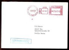 ITALIA 1987 COVER registrata in Germania #C 6376