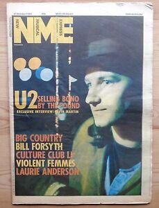 NME 27 OCT 1984 U2 BONO BIG COUNTRY VIOLENT FEMMES LAURIE ANDERSON MOTORHEAD